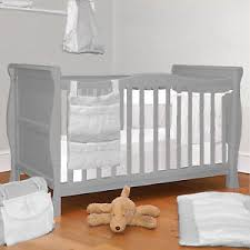 Sleigh Cot Bed 4baby 3 In 1 Grey Sleigh Cot Bed Baby Cotbed With Foam Safety