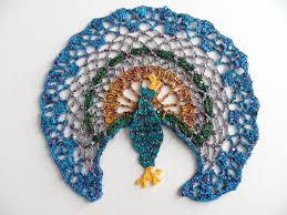 peacock doily crochet table decoration coffee table doily