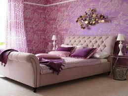 beautiful tween ideas bedroom with purple floral wallpaper