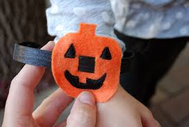 Fun Halloween Crafts - easy halloween no sew bracelets pumpkins and skulls merriment