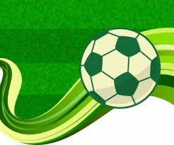 soccer green background repeating symbols sketch decoration vector