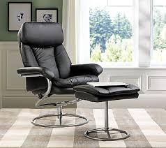 amazon com merax contemporary recliner and ottoman set in black