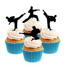 karate cake topper karate taekwondo marial arts silhouette collection cake