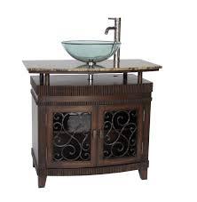 Vigo Bathroom Vanity by Adelina 36 Inch Vessel Sink Bathroom Vanity Mahogany Finish