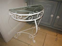 narrow metal console table outdoor metal console table deboto home design modern metal