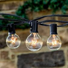 brightech ambience outdoor string lights with 25 g40 clear globe