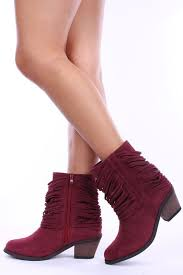 clearance s boots size 9 clearance wine shredded fringe mid calf boots size 9