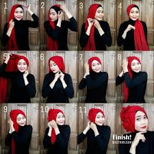 tutorial hijab resmi kumpulan tutorial hijab cocok untuk lebaran