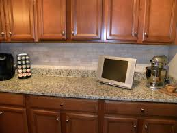 natural stone backsplash kitchen home decorating interior