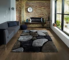 Home Decor Ebay by Noble House Hand Tufted Shaggy Pile Floor Rug Super Soft Pebble