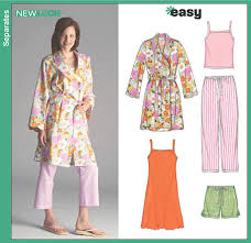 pattern pajama pants new look 6523 misses pajama pants shorts robe and knit nightgown