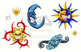 star sun and moon tattoo designs cool tattoos bonbaden