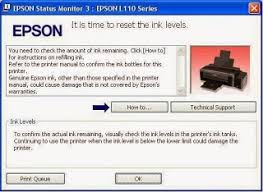Driver Resetter Printer Epson L110   driver and resetter printer how to reset ink run out epson l110