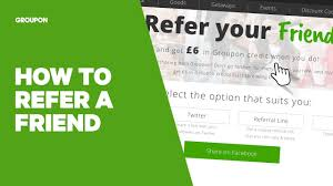 how to refer a friend to groupon youtube
