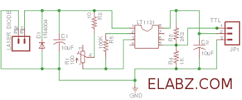 laser diode driver based on lt1121 voltage regulator u2013 schematic