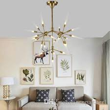 Ceiling Pendant Light Fixtures Villa Led Droplight Wrought Iron Absorption Sitting Pendant L