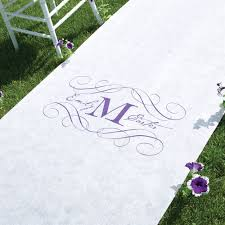 aisle runners for weddings monogram aisle runner invitations by