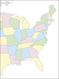 Blank State Maps by East Coast Of The United States Free Map Free Blank Map Free