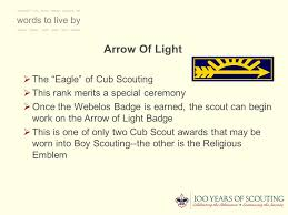 Cub Scout Arrow Of Light Webelos To Scout Transition Ppt Download