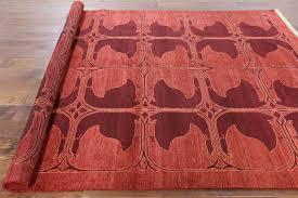 7 X 9 Wool Rug New Modern Abstract Carnelian Red 7 U0027x9 U0027 Gabbeh Hand Knotted Wool