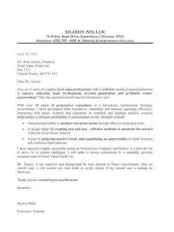 sales executive cover letter examples