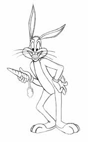 looney tunes character bugs bunny coloring pages womanmate com