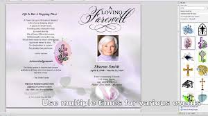 funeral service program template word