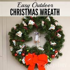 outdoor ribbon outdoor christmas wreath a and easy craft idea