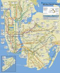 map of new york subway subway map in new york city major tourist attractions maps