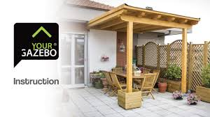 Small Patio Gazebo by Flat Roof Gazebo Diy Gazebo Yourgazebo Com Youtube