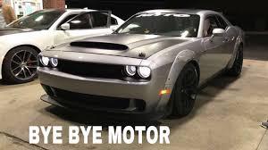 hellcat demon engine dodge demon rod knock blown motor youtube