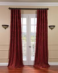 attractive french door curtains color and style