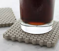 Cool Coasters Hexagon Concrete Coasters Incredible Things