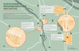 Portland Neighborhood Map by Portland State Sustainability Sustainable Neighborhoods