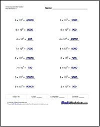 exponents and scientific notation worksheet worksheets