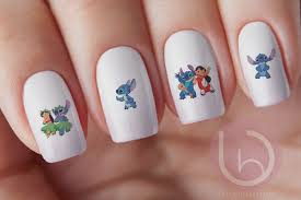 lilo and stitch water slide decal nail design nails press on