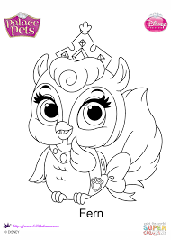 palace pets fern coloring page free printable coloring pages