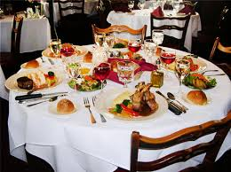 Dining Table With Food A La Carte Dining The Cranbury Inn