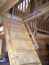 make you own diy loft attic stairs ladder pull down attic loft
