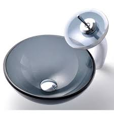 Clear Glass Bathroom Sinks - vessels sinks and faucets befon for