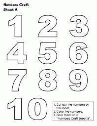 coloring pages for numbers 1 10 shishita world com