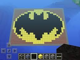 minecraft batman logo 3 steps