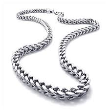 chain necklace mens images Konov stainless steel mens necklace link chain silver length jpg