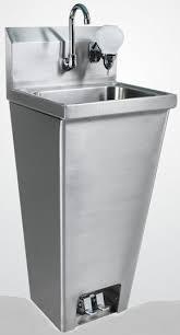 foot pedal hand sink hand sink splash guard restaurant hand sink usa equipment direct