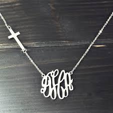 custom necklaces cheap online shop initials monogram alloy pendant custom necklace
