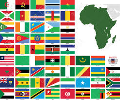 Africa Map Of Countries by Set Of Flags And Maps Of All African Countries And Dependent