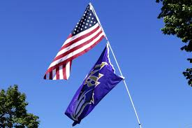Flag Of Baltimore Ravens Steelers Stand For National Anthem Baltimore Players Take