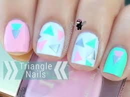 266 best geometric nail art images on pinterest nailart