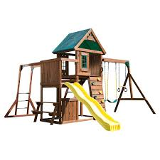 big backyard ridgeview deluxe clubhouse swing set hayneedle