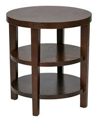 glass top end table with drawer espresso furniture round end table with drawer espresso storage altra